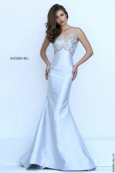 Rochie Sherri Hill 50284 Silver