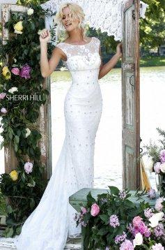 Rochie Sherri Hill 50069 White
