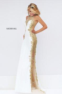 Rochie Sherri Hill 50247 White