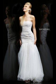 Rochie Sherri Hill 21293 White