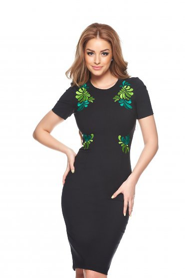 StarShinerS Rochie StarShinerS Brodata Mystic Line Perfect Portrait Black