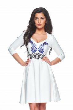Rochie StarShinerS Brodata Mystic Line Fantastic Look White