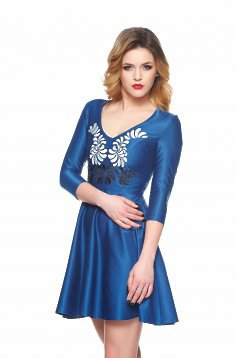 Rochie StarShinerS Brodata Mystic Line Fantastic Look Blue
