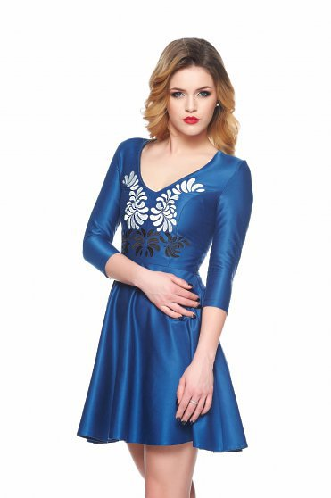 StarShinerS Rochie StarShinerS Brodata Mystic Line Fantastic Look Blue
