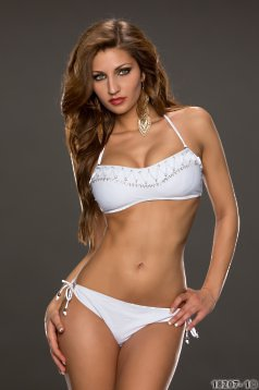 Costum De Baie Perfect Shape White