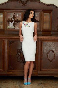 Rochie StarShinerS Brodata Mystic Line Fascination White