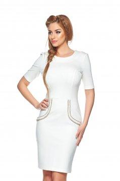 Rochie StarShinerS Aristocratic Look White