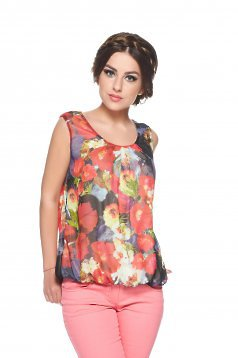 Top LaDonna Flower Joy DarkBlue