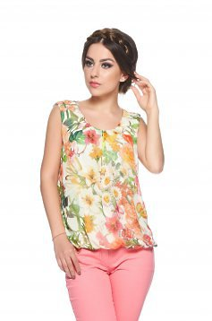 Top LaDonna Flower Joy Cream
