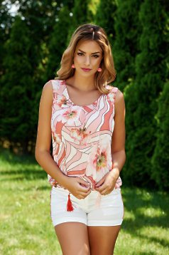Top LaDonna Flower Joy Peach