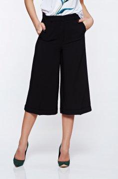 Pantaloni Top Secret negri 3/4 cu talie medie cu buzunare