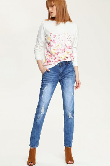 Blugi Top Secret Boyfriend Style Blue