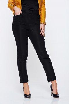 Pantaloni Top Secret Negri Skinny Pana La Glezna Cu Talie Medie