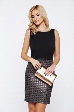 Rochie Top Secret neagra cu spatele decupat din material usor elastic