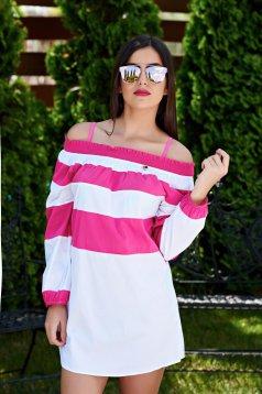 Rochie PrettyGirl De Plaja Modern Style Pink