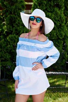 Rochie PrettyGirl De Plaja Modern Style LightBlue