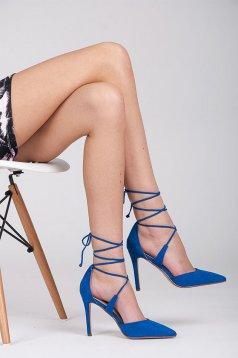 Pantofi Doll Look Blue