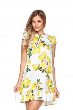 Rochie Fofy Lemon Garden White