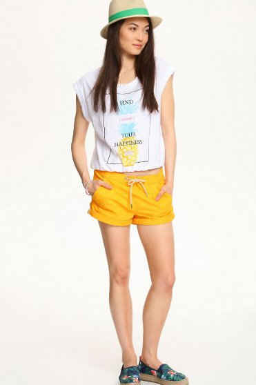 Tricou Top Secret Your Happiness White