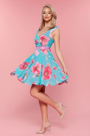 Rochie StarShinerS Glam Flower Turquoise