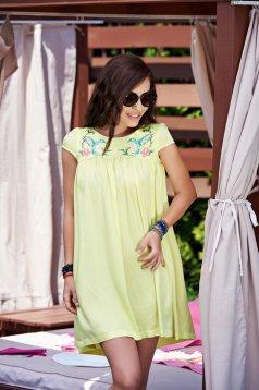 Rochie StarShinerS Brodata Summer Spice Yellow