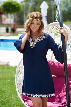 Ie StarShinerS Traditionala Cute Embroidery DarkBlue