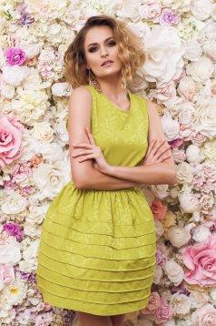 Rochie PrettyGirl Caramel Green