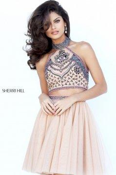 Rochie Sherri Hill 50645 nude/multi