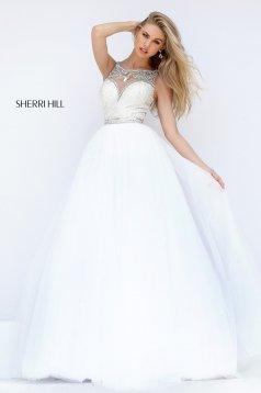Rochie Sherri Hill 50562 White