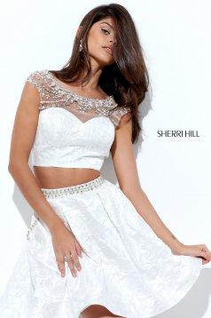 Rochie Sherri Hill 50499 White