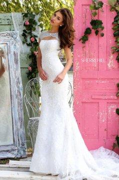 Rochie Sherri Hill 50370 White