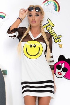 Rochie Ocassion Smiley Face White