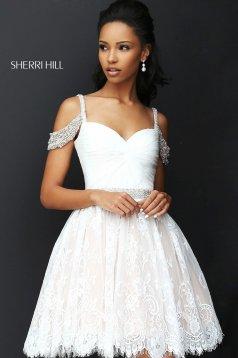 Rochie Sherri Hill 50503 White