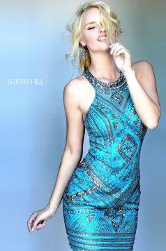 Rochie Sherri Hill 50630 teal