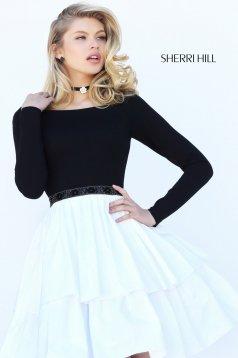 Rochie Sherri Hill 50641 White