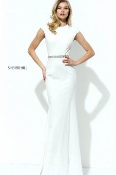 Rochie Sherri Hill 50646 White