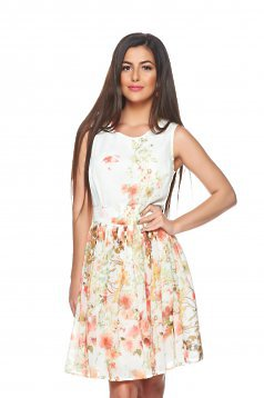 Rochie PrettyGirl Peach Flower Orange