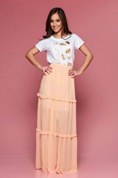 Fusta PrettyGirl Summer Peach