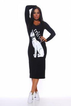 Rochie MissQ Egyptian Symbol Black