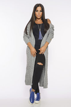 Cardigan MissQ Fall Filter Grey