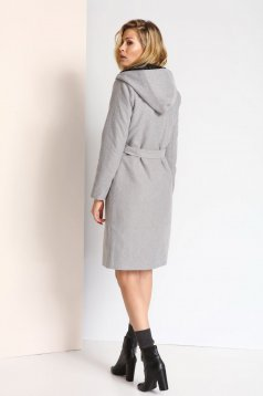 Palton Top Secret S024721 LightGrey