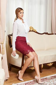 Fusta Daniella Cristea Stylish Events Burgundy