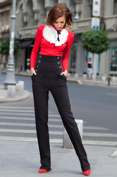 Pantaloni Artista Slim Joy Black