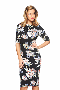Rochie StarShinerS Flower Aristocracy Black