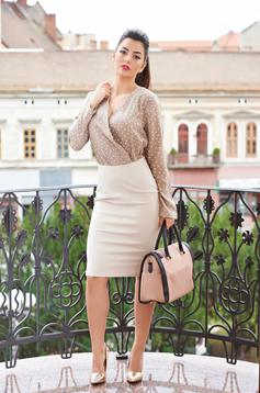 Rochie StarShinerS Office Style Cream