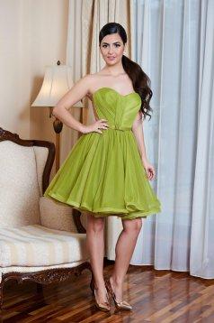 Rochie Ana Radu verde-deschis de ocazie tip corset cu bust buretat