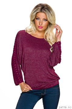 Bluza Simple Style Burgundy