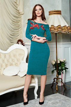 Rochie StarShinerS Brodata Theo Rose Attractiveness Green