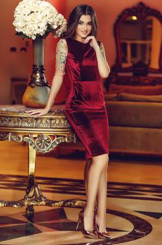 Rochie StarShinerS Brodata Theo Rose Royal Burgundy