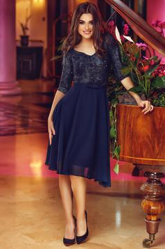 Rochie StarShinerS Theo Rose Sparkle DarkBlue